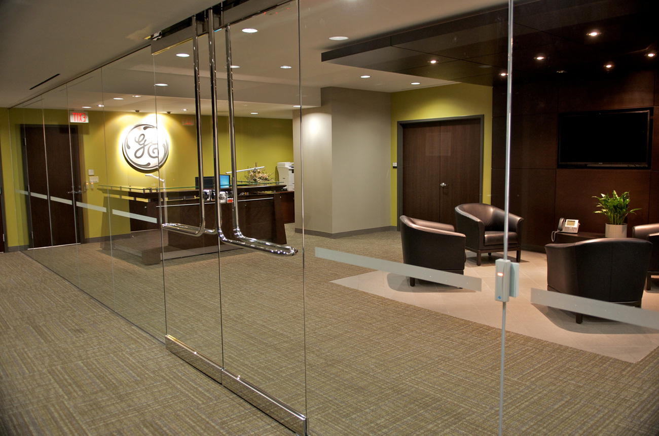 GE Capital - Glass Wall Entrance and Lobby