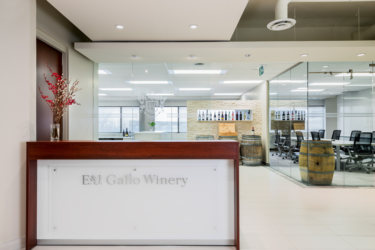 Gallo Wines - Office Reception Area