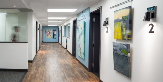 Living City - Commercial Interior Renovation - Hallway