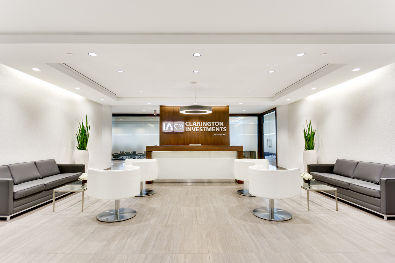 IA Clarington Investments – Commercial Leasehold Improvement to Reception Area