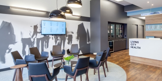 Living City - Commercial Leasehold Improvement, Reception Area