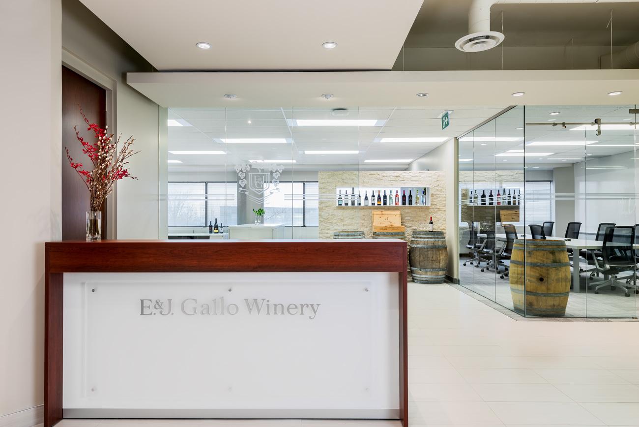 Gallo Wines – Office Reception Area